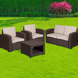 Reppert 4 Piece Sofa Set with Cushions