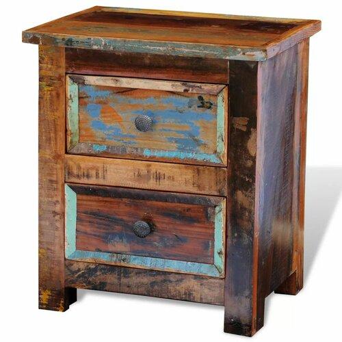 Nachttisch mit 2 Schubladen dCor design   Schlafzimmer > Nachttische   Holz   dCor design