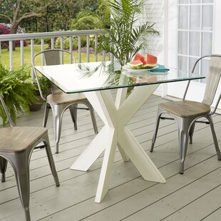 Barnhart X-Base Solid Wood Dining Table