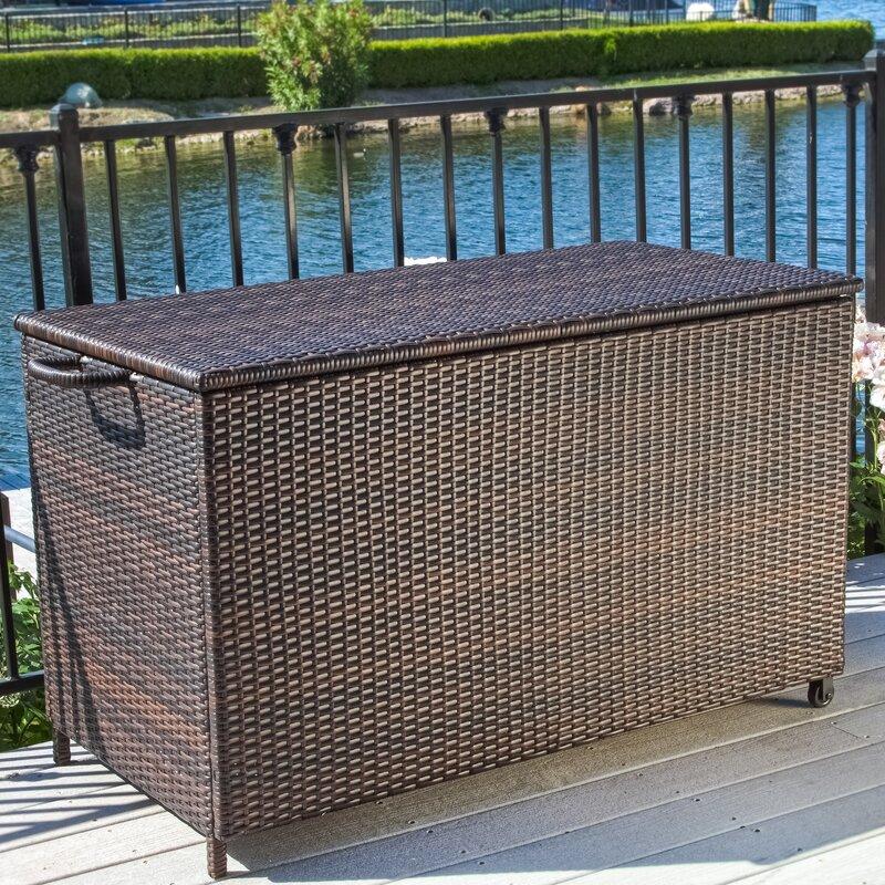 Highland Dunes Ugarte 150 Gallon Wicker Deck Box