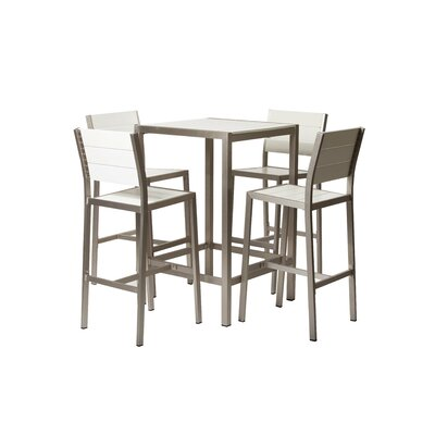 Riddleville 5 Piece Bar Height Dining Set by Rosecliff Heights Cheap