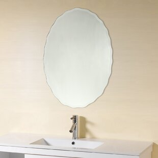 Denzer Frameless Wall Mirror By Wrought Studio