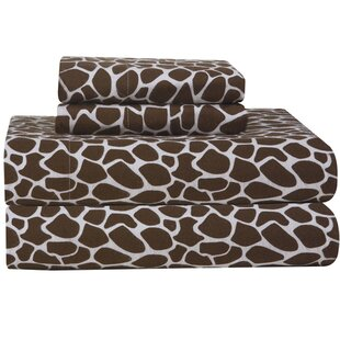 Heavy Weight Giraffe Flannel Sheet Set