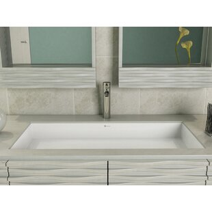 DECOLAV Sondra Solid Surface Other Rectangular Undermount Bathroom Sink wi..