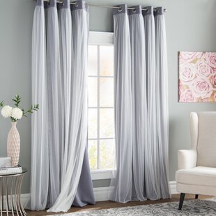 Brockham Solid Blackout Thermal Grommet Curtain Panels (Set Of 2)