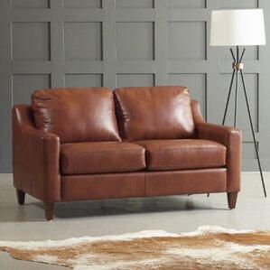 Jesper Leather Loveseat by..