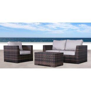 Pierson Resort 3 Piece Sofa Set with Cushions