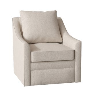 Quincy Swivel Armchair by AllModern Custom Upholstery