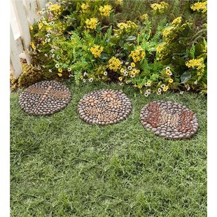 Attrayant Resin Rock Garden Stepping Stone Set (Set Of 3)