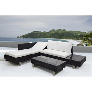Puccio 3 Piece Sectional Set with Cushions