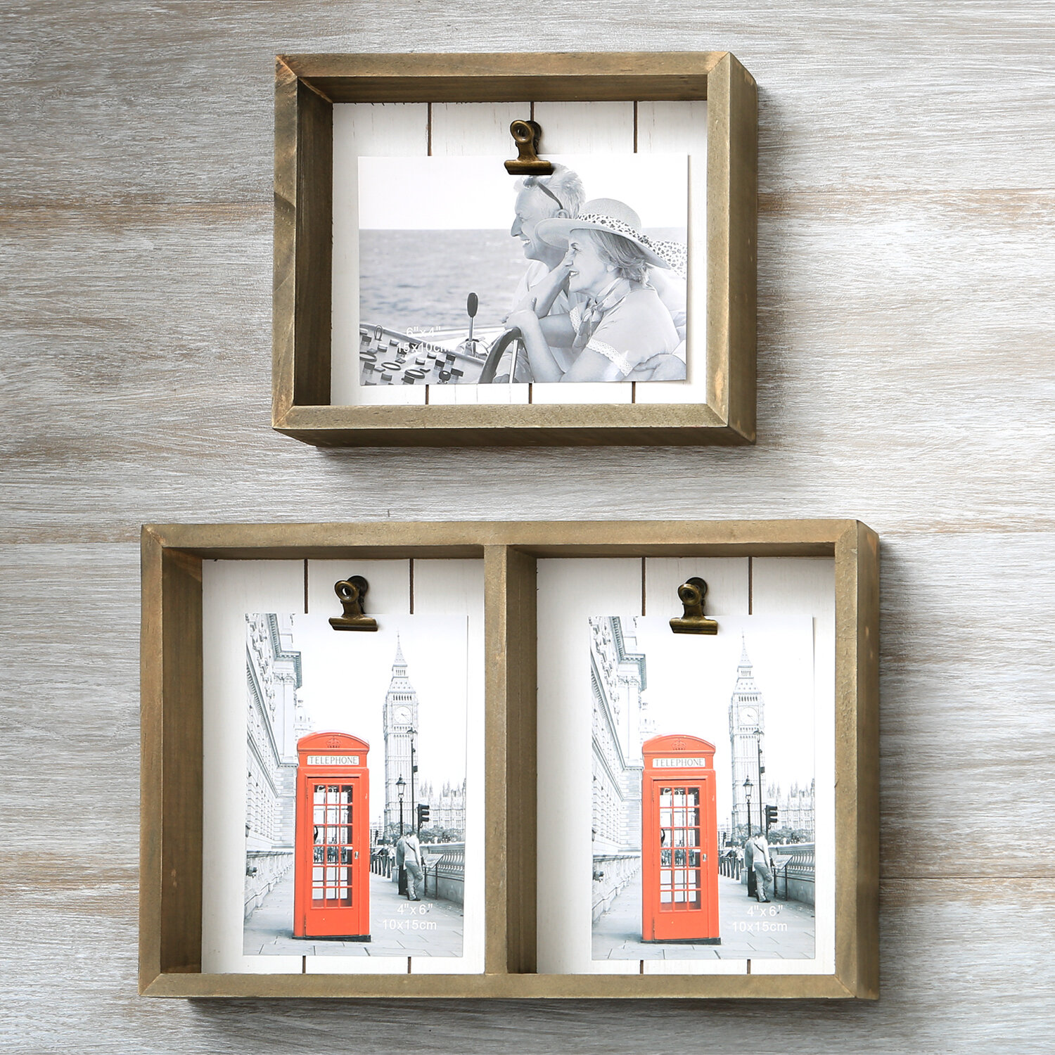 Piece Oona Wood Box Picture Frame Set