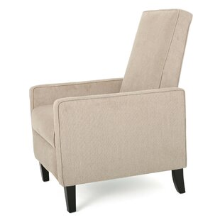 Hayle Natural Linen Recliner by Highland Dunes