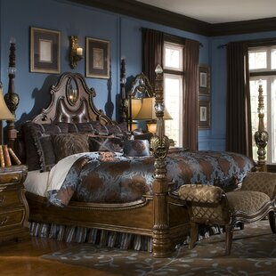 Sovereign Upholstered Four Poster Bed by Michael Amini