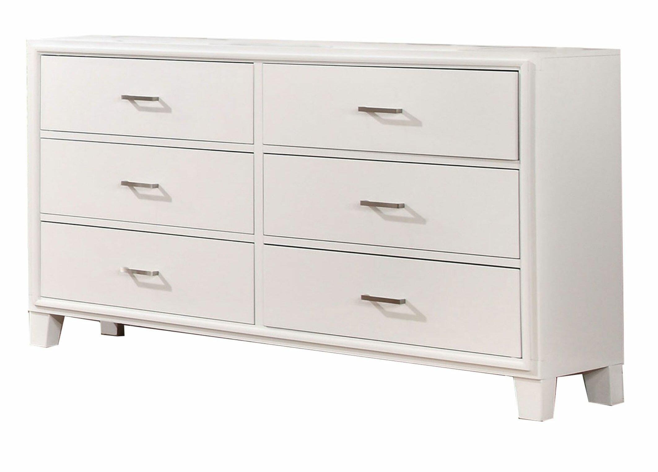 Mercury Row Berggren Wooden 6 Drawer Double Dresser Wayfair