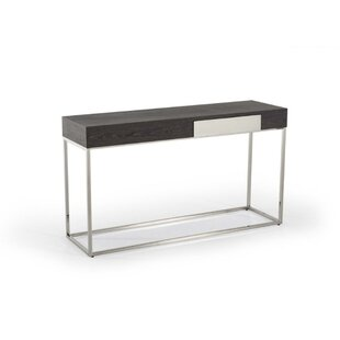 Clarkfield Wood and Stainless Steel Console Table