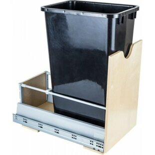 Hardware Resources Steel 12.5 Gallon Open Pull Out/Under Counter Trash Can