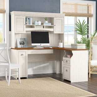 Oakridge L-Shaped Executive Desk with Hutch by Beachcrest Home