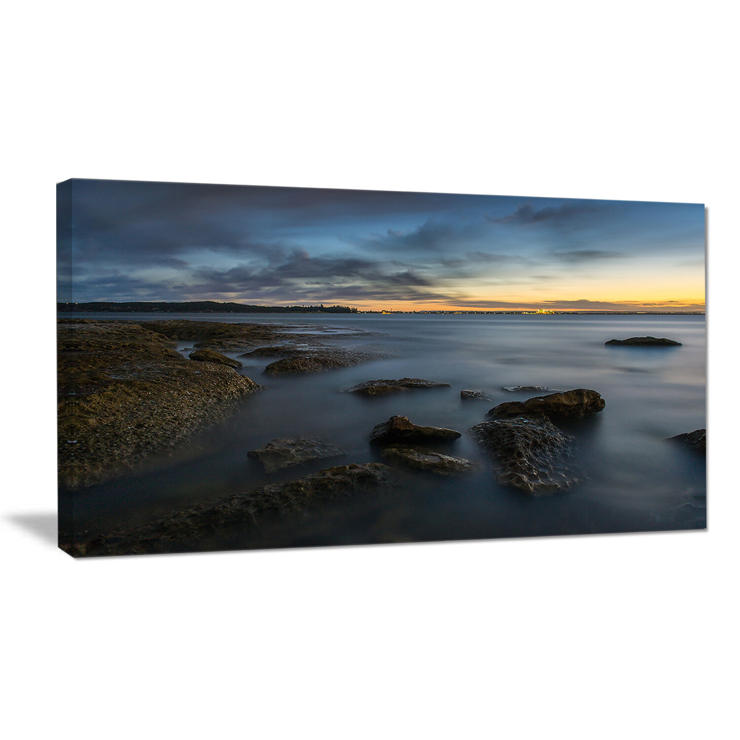 Designart Bluish Sunset At La Perouse Sydney Large Seashore Photographic Print On Wrapped Canvas Wayfair