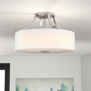 Brundage 3-Light Semi-Flush Mount by Brayden Studio