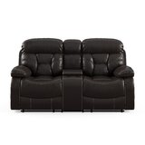Finch Faux Leather 73 Wide Pillow Top Arm Reclining Loveseat by Red Barrel Studio®