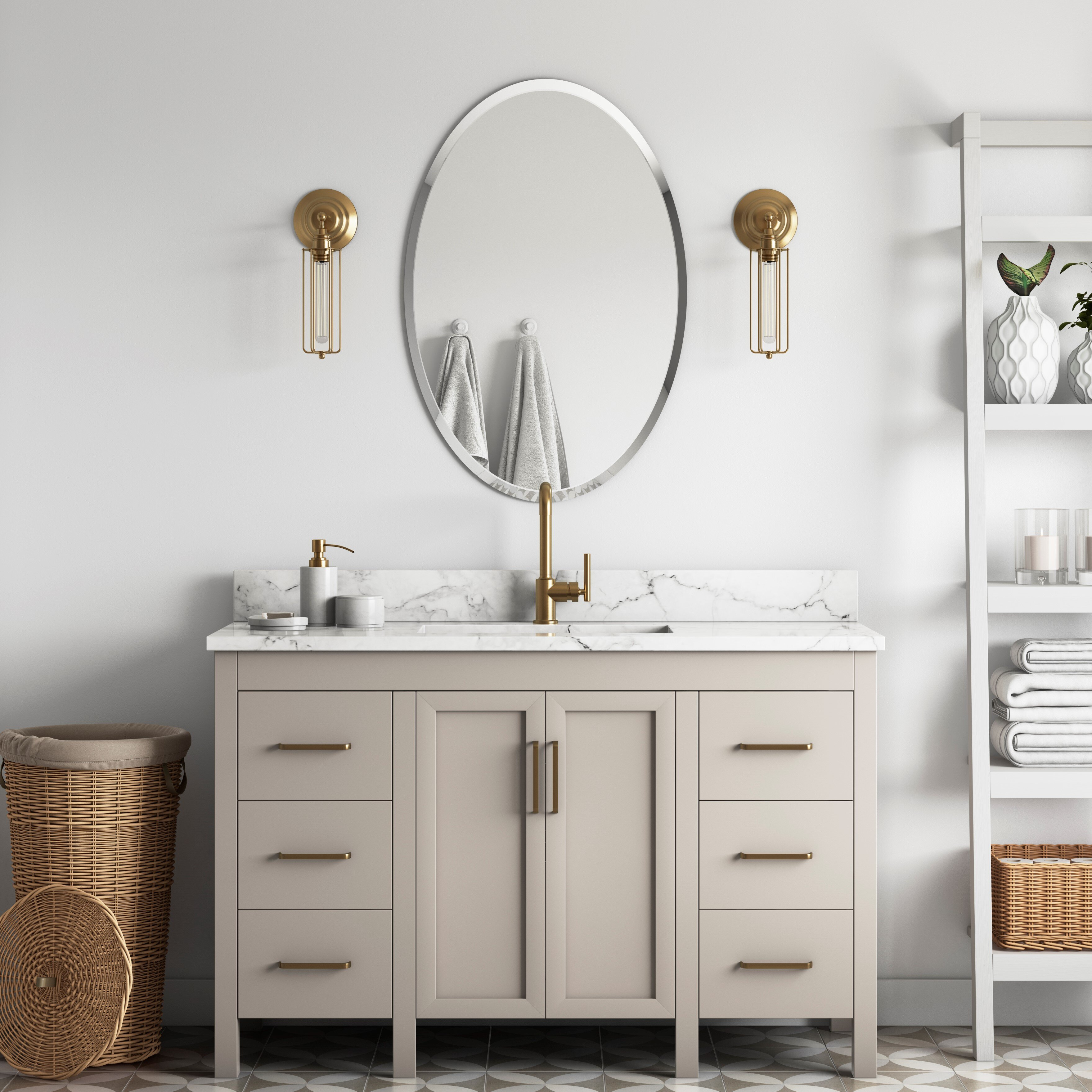 Large Oversized Oval Vanity Mirrors You Ll Love In 2021 Wayfair