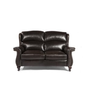 Exeter Leather Sofa by Red Barrel Studio
