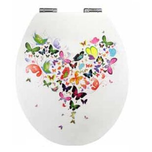 40cm round toilet seat. Glossy Art Butterfly Round Toilet Seat Nicol Seats  Wayfair Co Uk