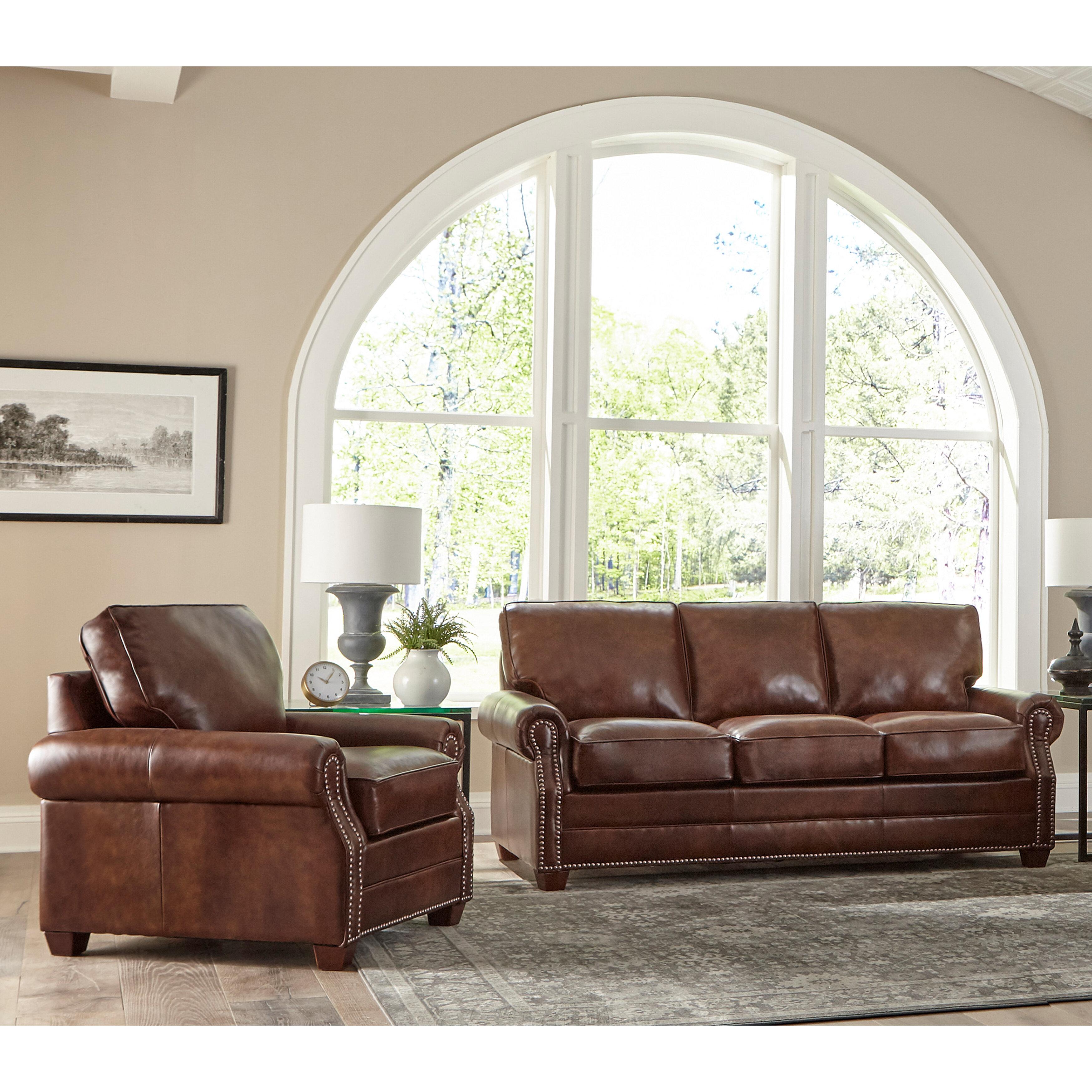 Lyndsey 5 Piece Leather Living Room Set