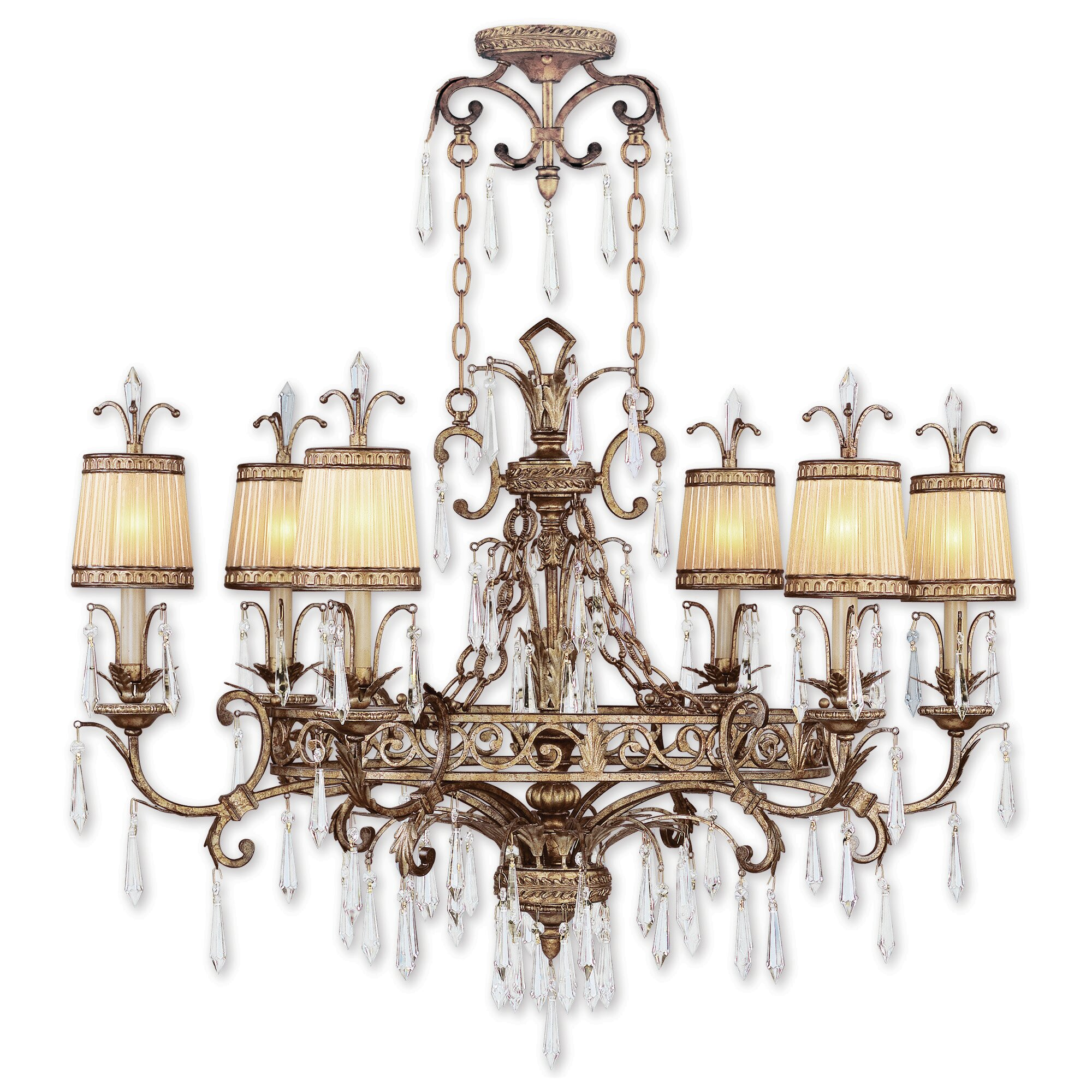 Astoria Grand Perot 6 Light Shaded Classic Traditional Chandelier Wayfair