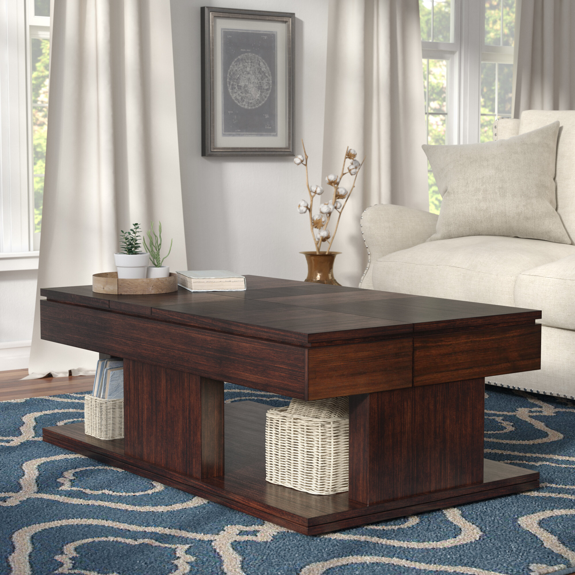 Janene Double Lift Top Coffee Table