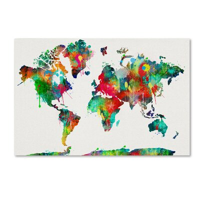48fb18a70b2 Mercury Row Oliver Gal  Mapamundi Maps Art  Wrapped Canvas Print ...