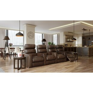 Power Leather Home Theater Configurable Seating ByOrren Ellis
