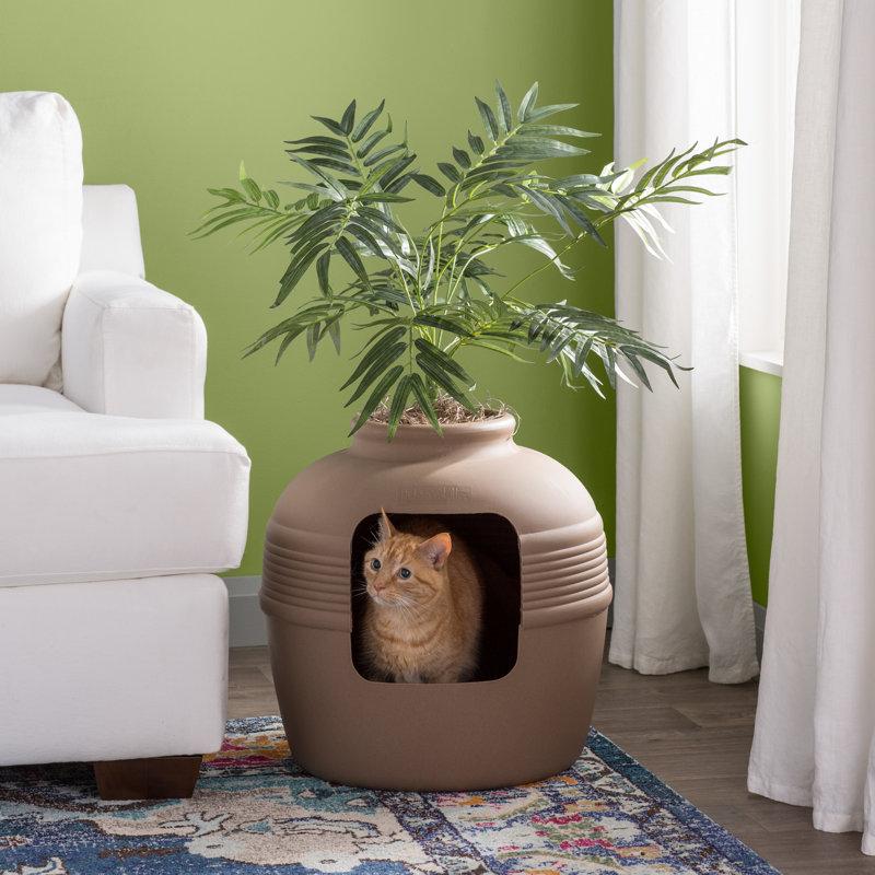 Archie Amp Oscar Elijah Covered Hidden Cat Litter Box With