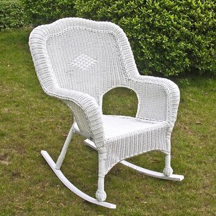 August Grove Dominic Resin Patio Rocking Chair