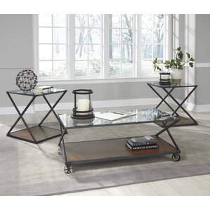 Glass Coffee Table Sets You Ll Love Wayfair