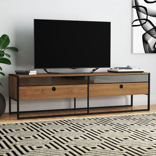 Langley Street Ibrahim Tv Stand For Tvs Up To 78 Inches Wayfair Ca
