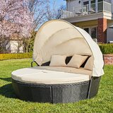 Schulz Patio Daybed with Cushions by Bayou Breeze