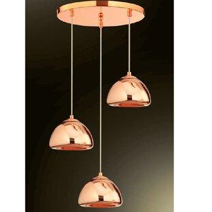 Wrought Studio Alvin 3-Light Cluster Pendant