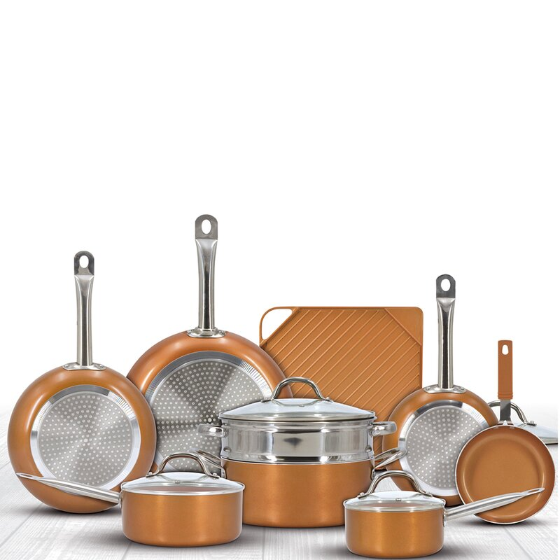 Eternal 13 Pieces Ceramic Non Stick Cookware Set