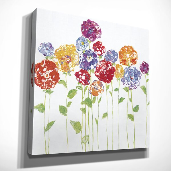 Latitude Run Pretty Posies Ii Oil Painting Print On Wrapped Canvas Wayfair
