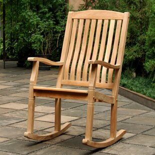 Cynthia Porch Teak Rocking Chair by Bayou Breeze