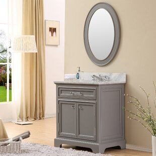 Bergin 30 W  Single Sink Bathroom Vanity Set with Faucet - Grey by Three Posts