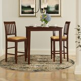 Tybalt 3 Piece Counter Height Solid Wood Dining Set by Andover Mills™
