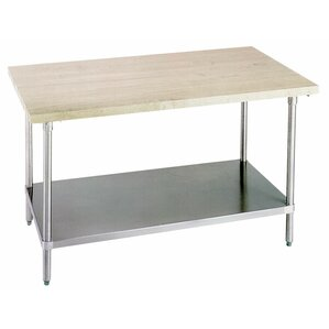 Prep Table with Wood Top by A-Line by Advance Tabco Price