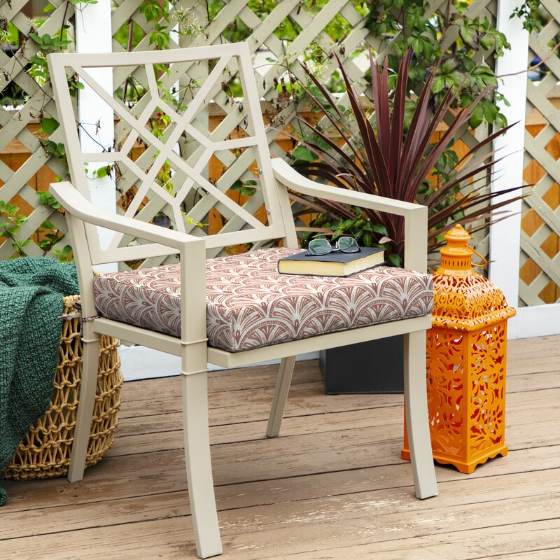 Cooper Deco Geo Traditional Outdoor Dining Chair Cushion