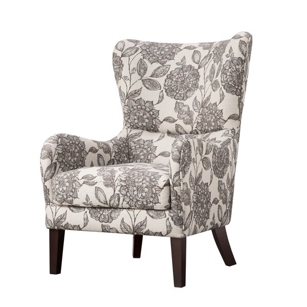 Laurel foundry modern farmhouse grangeville swoop wingback for Wing back recliner chair