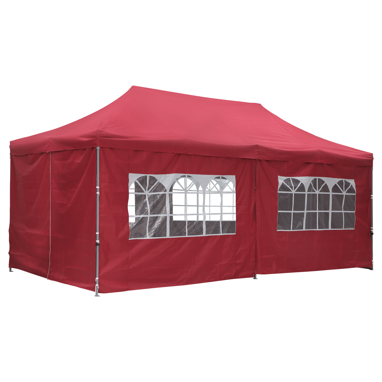 Zenova 20 Ft W X 10 Ft D Steel Pop Up Canopy Wayfair