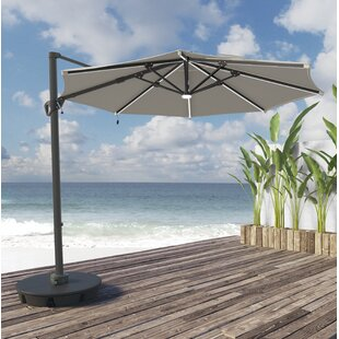 Bay Isle Home Gypsou 9.8' Cantilever Sunbrella Umbrella