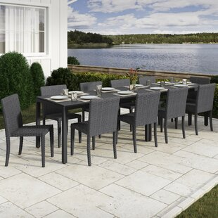 Rosecliff Heights Killingworth 12 Piece Outdoor Dining Set