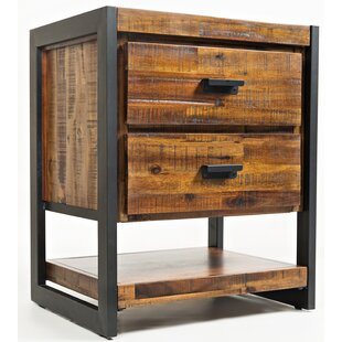 Gracie Oaks Westgate 2 Drawer Nightstand